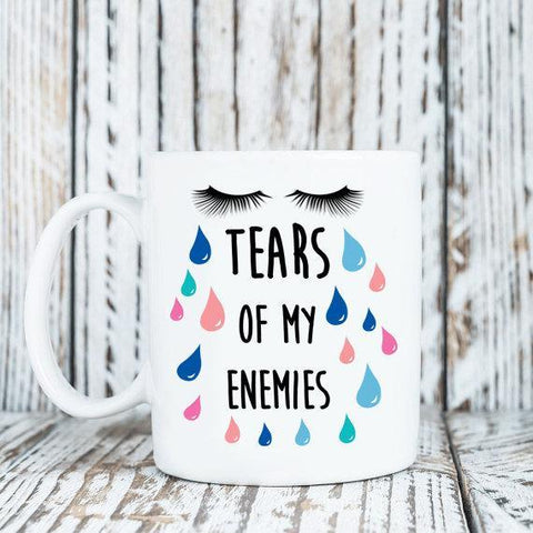 Coffee Mug - Funny Coffee Mug - Tears Of My Enemies - 15 Oz Coffee Mug