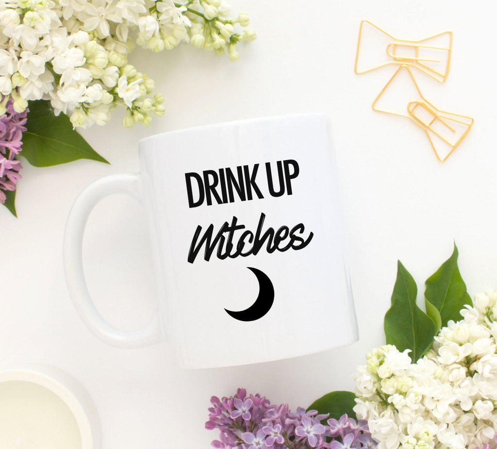 Drink Up Witches Mug Witchy Babe Mug Witch Halloween Mug Salem Witch Mug Salem Massachusetts Mug Gypsy Mug Moon Mug Halloween Kitchenware