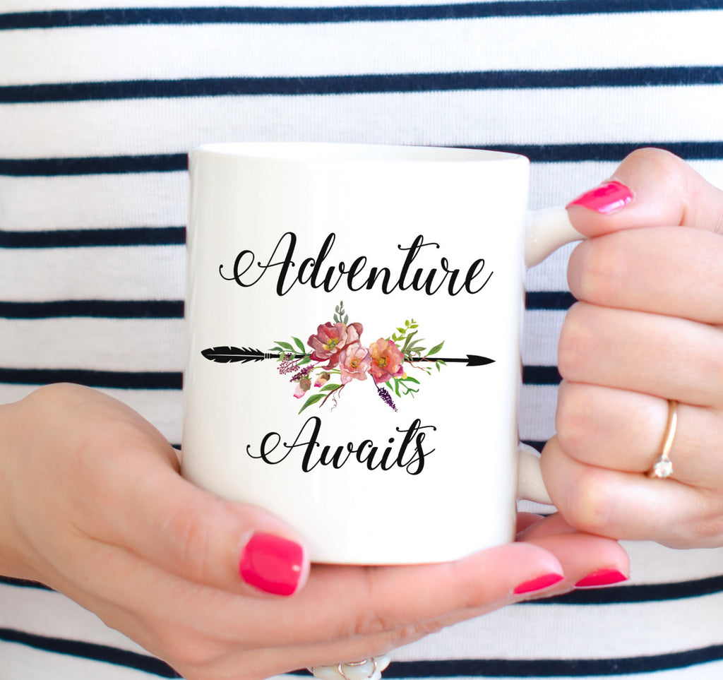 Adventure Awaits Mug Great Gift for Brides Bridal Wedding Announcement Engagement Groomsmen Gift Married Proposal Gift