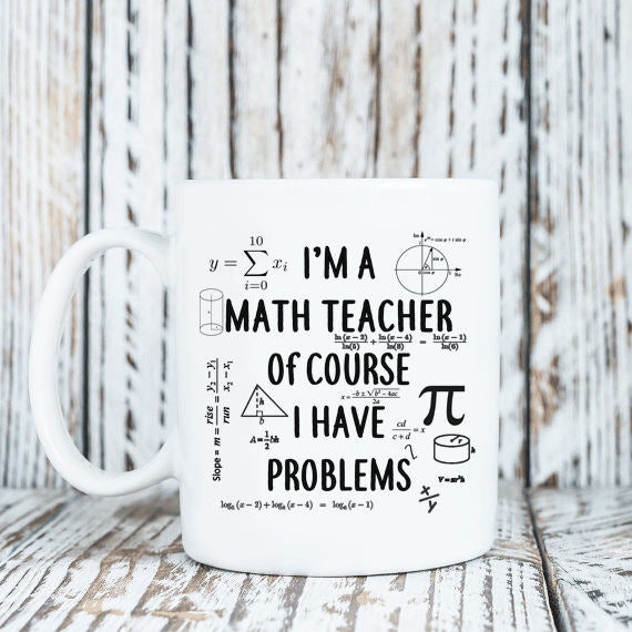 Math Teacher Mug Gift For Math Teacher Math Professor Mug Math Mug Mug For Math Teacher Mug For Mathlete Math Problem Mug Math Coffee Mug