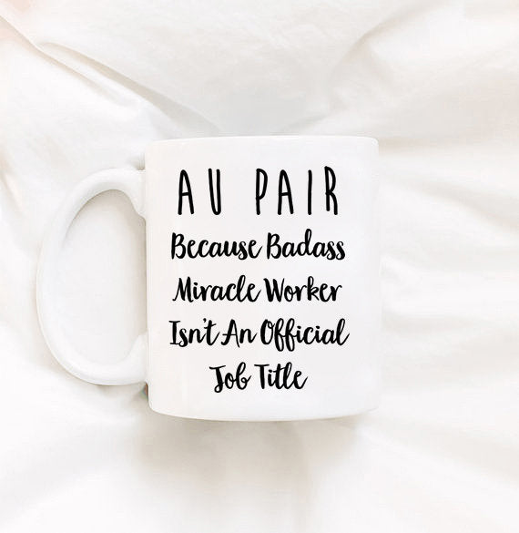 Au Pair Gift Nanny Mug Gifts for Nannies Nanny Gift From Kids Nanny Gift Ideas Nanny Holiday Gift Babysitter Gift