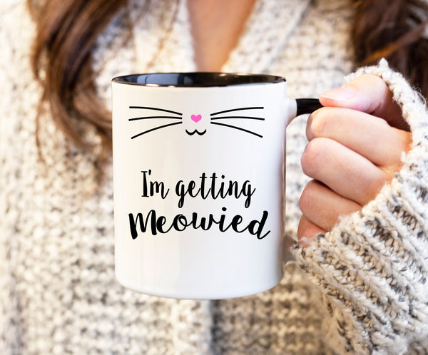 Meowied Mug Ceramic Mug Coffee Cup Gift For Her Gift For Him Coworker Gift Wedding Gift Engagement Gift Cat Mug