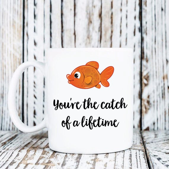Fishing Mug - Anniversary Gift - Girlfriend Gift - Boyfriend Gift - Husband Mug - Wife Mug - Mug for Her - Mug For Him - Fisherman Gift