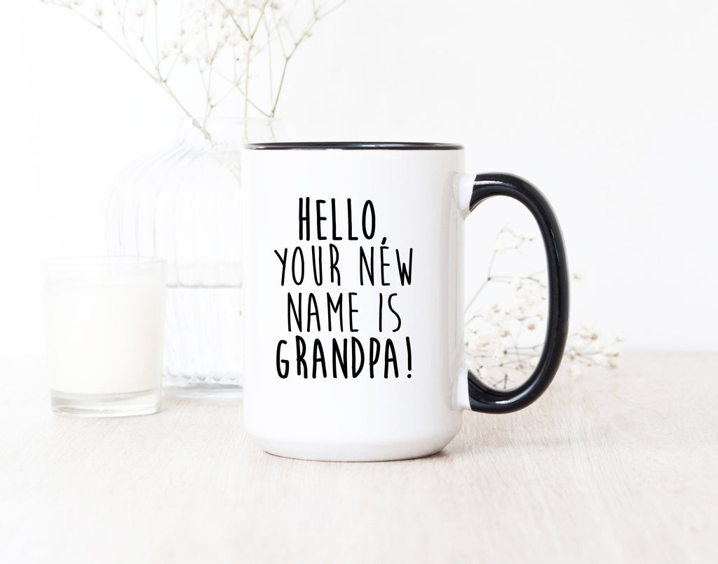 Pregnancy Reveal Promoted to Grandpa Mug Baby New Parents Gifts New Grandparents Gift New Grandpa Mug Grandfather Gift Pregnancy Reveal Gift