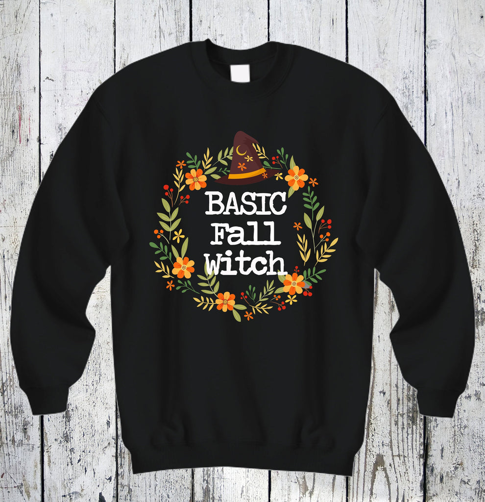 Fall Sweatshirt - Halloween Sweatshirt - Fall Decorations - Autumn Decorations - Fall Witch Shirt - Fall Clothing - Fall Witch