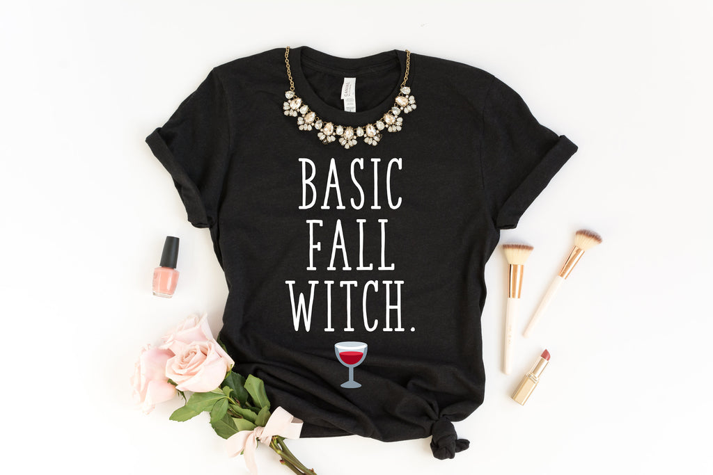 Basic Fall Witch Shirt - Fall Shirts - Halloween Shirt - Autumn Decorations - Fall Witch Shirt - Hello Fall Shirt - Haunted House