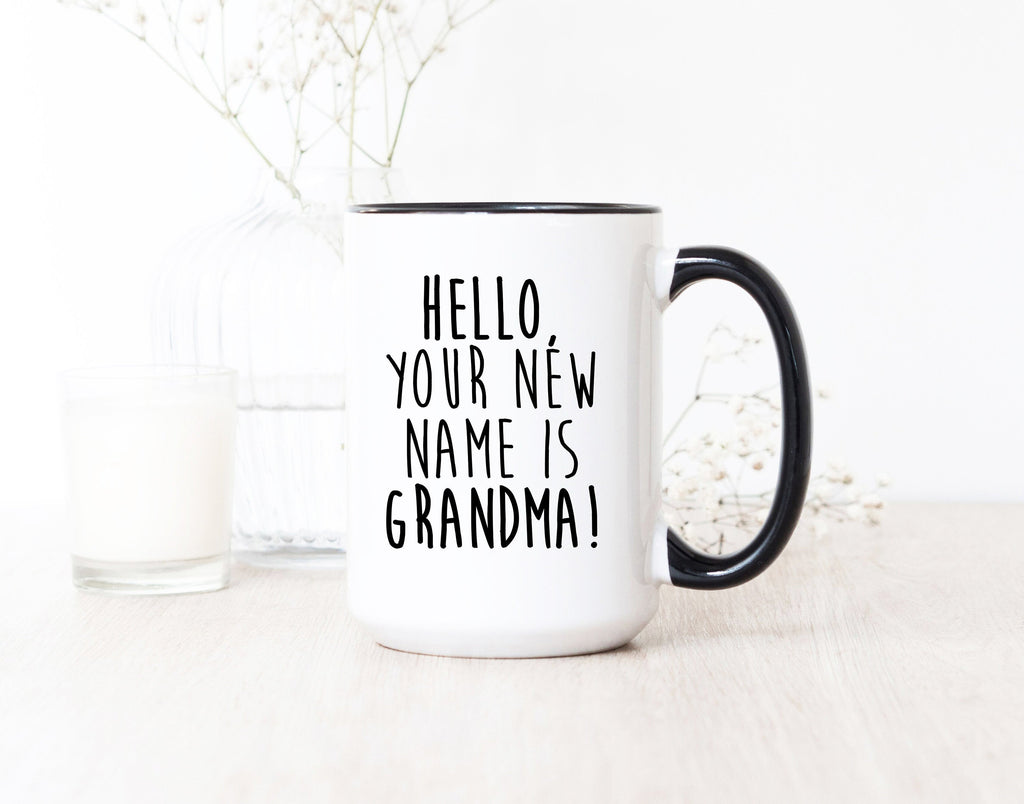 Pregnancy Reveal Promoted to Grandma Mug Baby New Parents Gifts New Grandparents Gift New Grandma Mug Grandmother Gift Pregnancy Reveal Gift