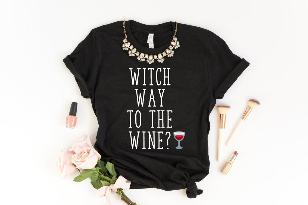 Wine Shirt - Fall Shirts - Halloween Shirt - Autumn Decorations - Fall Witch Shirt - Hello Fall Shirt - Haunted House