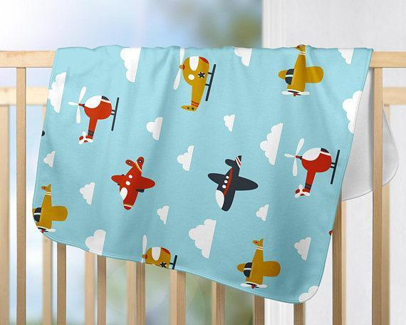 Planes Baby Blanket  30″ X 40″ Fleece