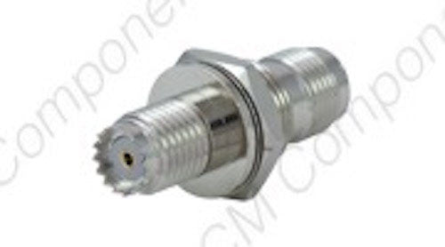 TNC(f) Bulkhead - MinI UHF(f) Adapter