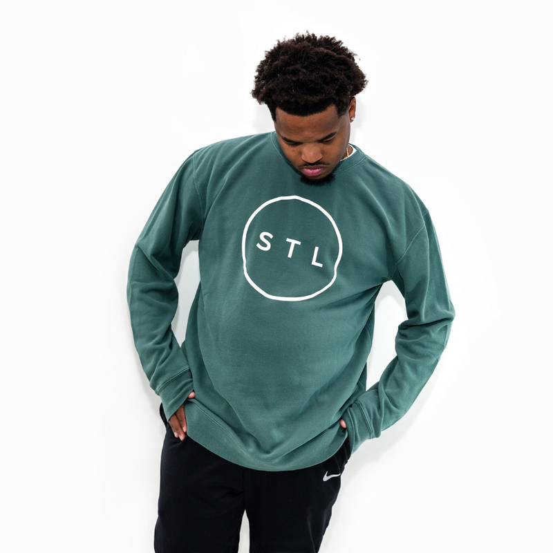 City Circle Pigment Wash Crewneck