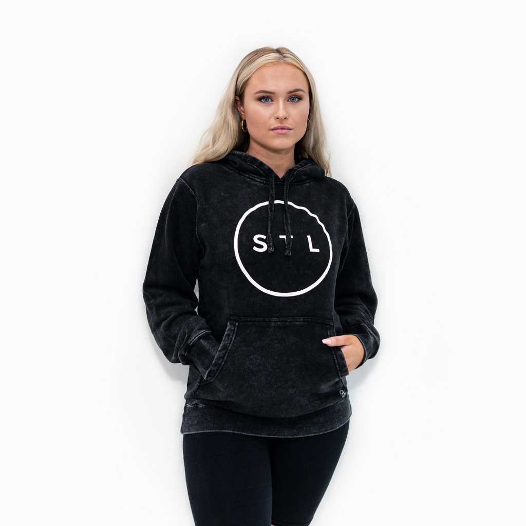 Mineral Wash City Circle Hoodie
