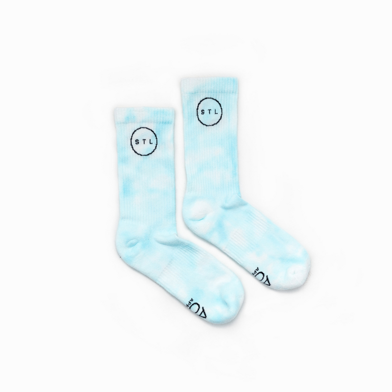 Tie Dye City Circle Crew Socks