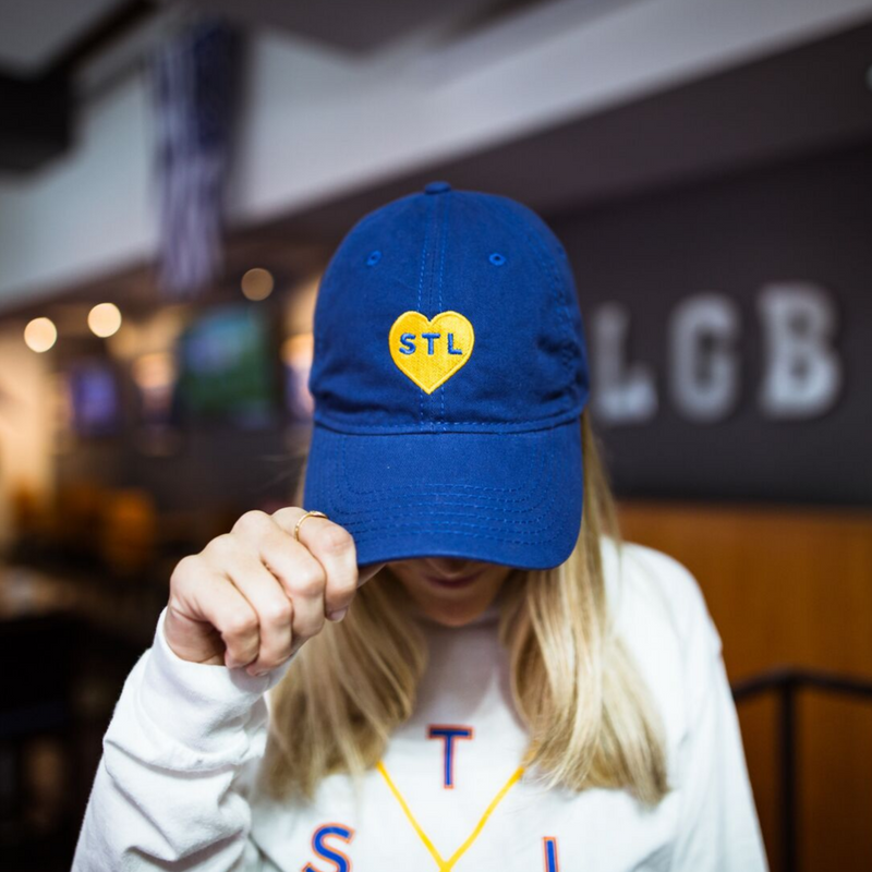 Gold Heart STL Dad Cap