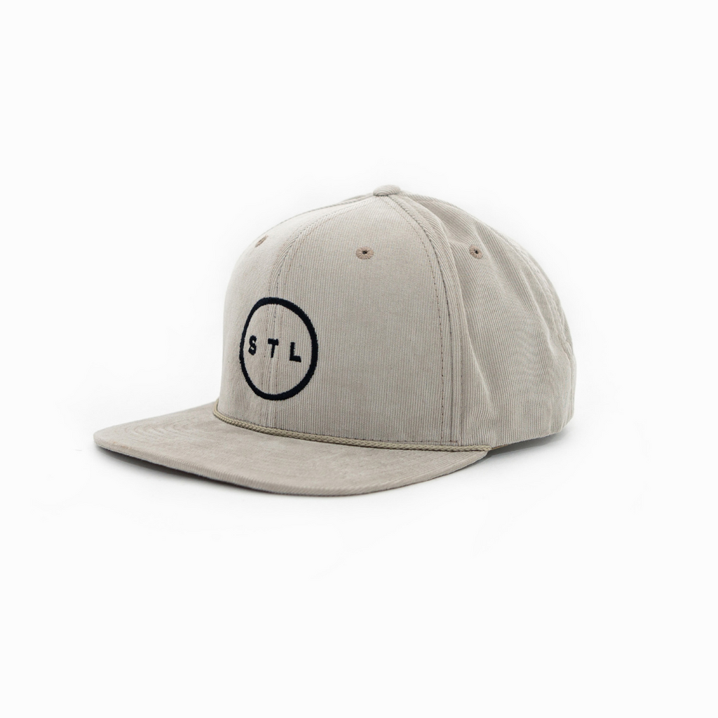 City Circle Corduroy Flat Bill Hat