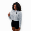 Embroidered Tilted Heart STL Crop Hoodie