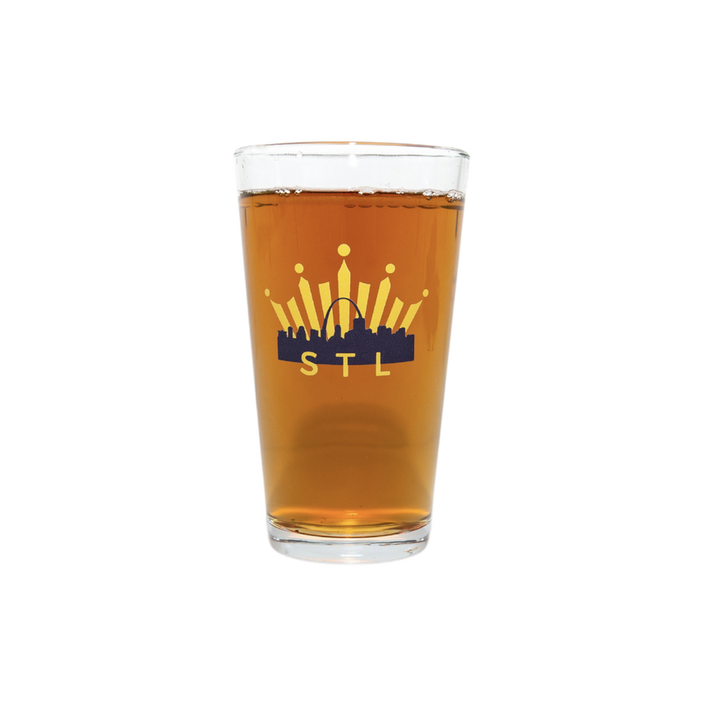 Bud Select Hockey Pint Glass