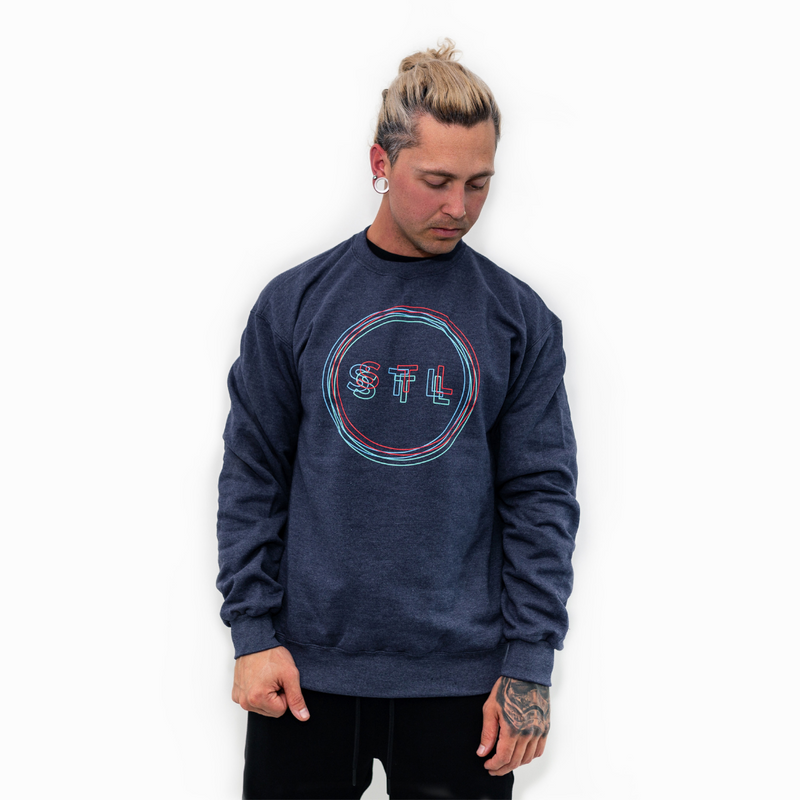 Anaglyph City Circle Champion® Crewneck