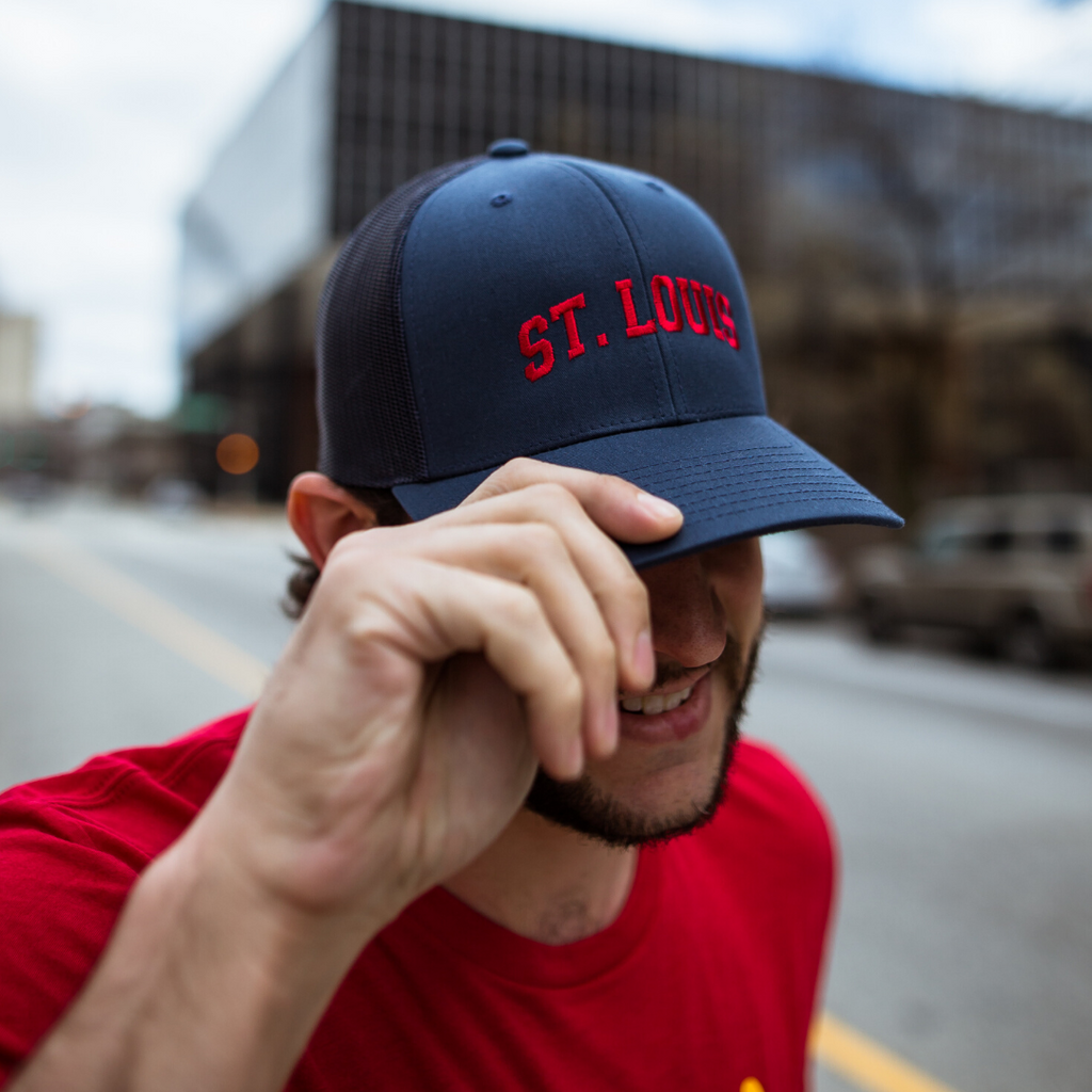 St. Louis Navy Baseball Trucker