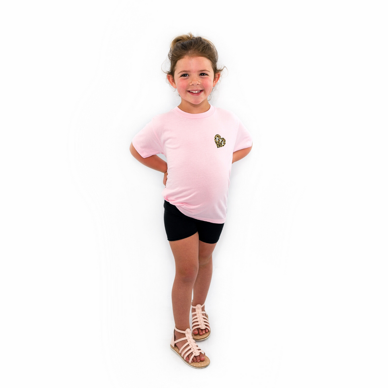 Toddler Leopard Heart STL Tee