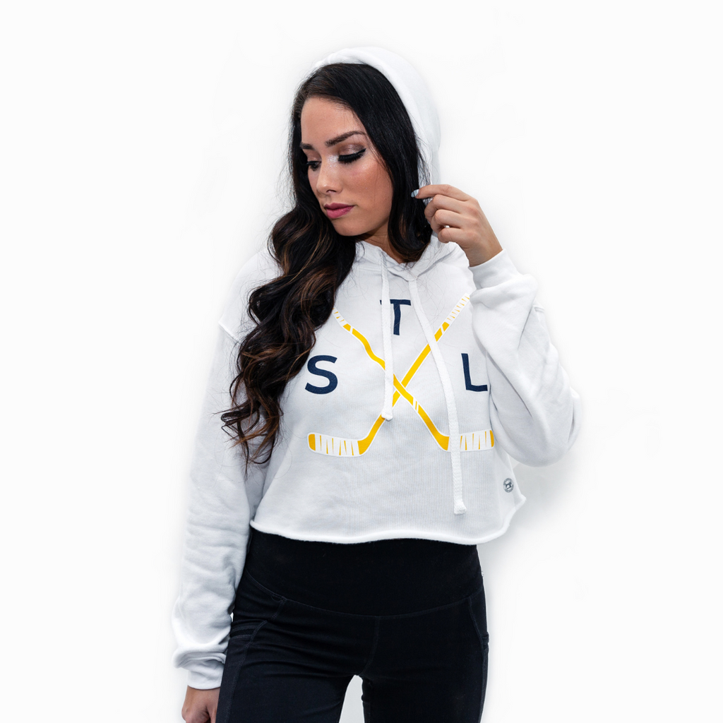 Crossed Sticks Crop Hoodie