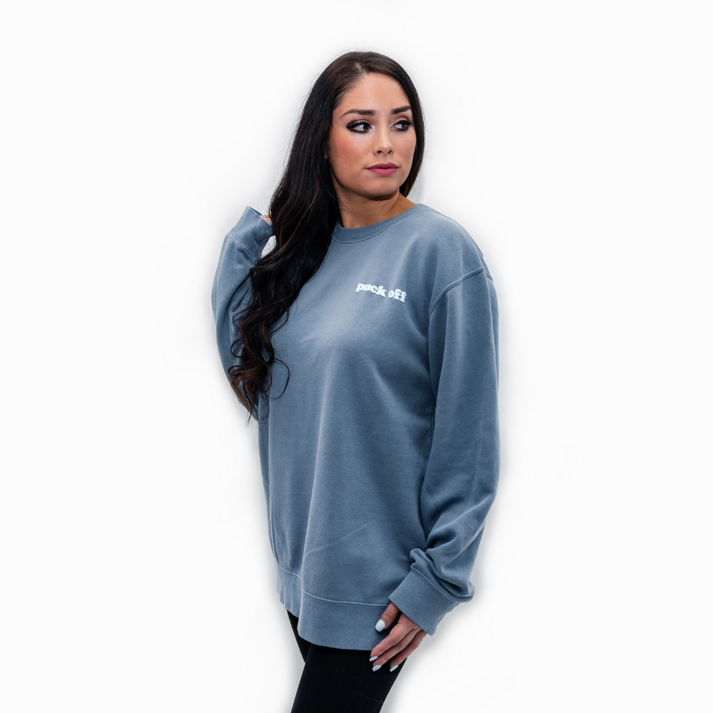 Puck Off Hockey Crewneck Sweatshirt