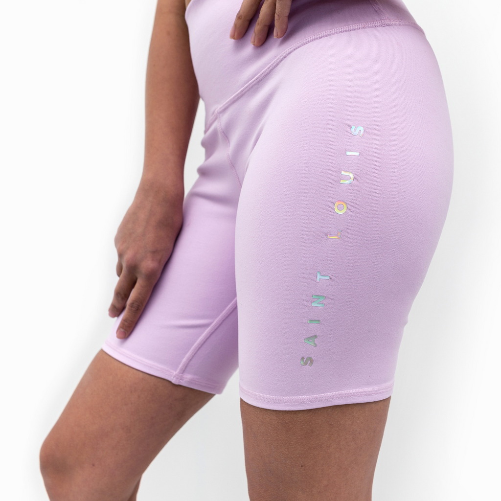 Holographic Saint Louis Biker Shorts