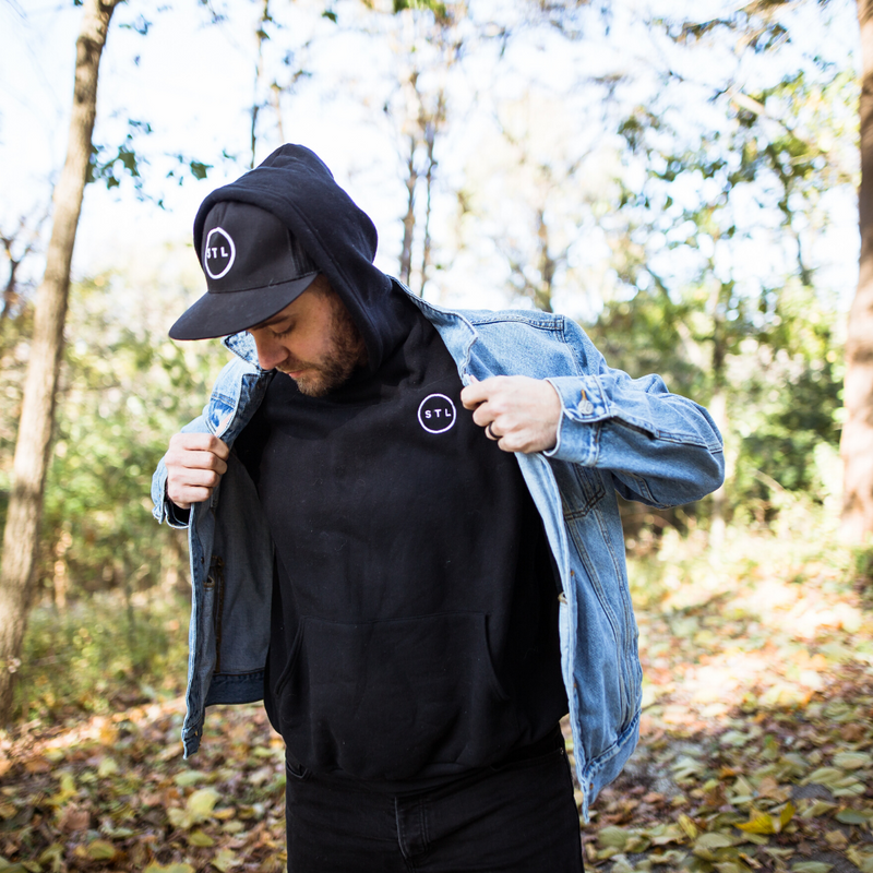 Embroidered City Circle Hoodie