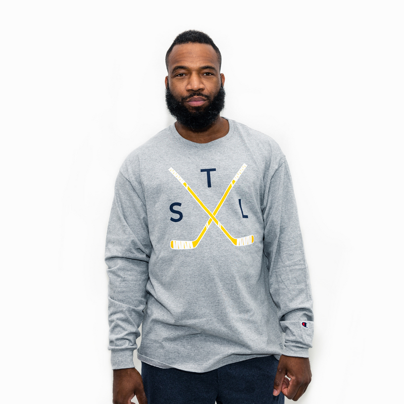 Crossed Sticks Champion® Long Sleeve