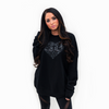 Embroidered Tilted Heart Long Sleeve