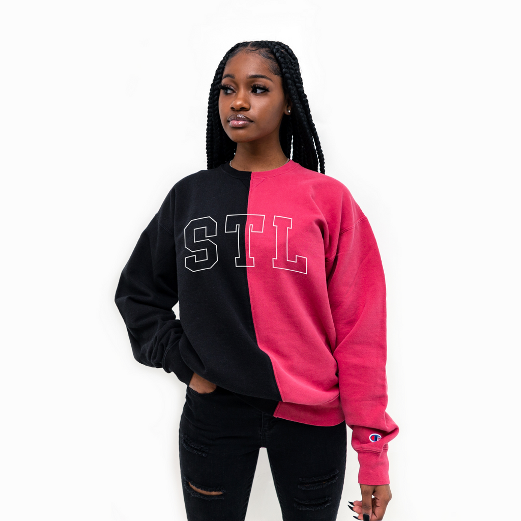 STL Collegiate Colorblock Champion® Crewneck
