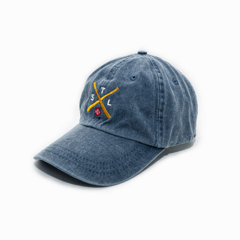 Crossed Bats Curved Bill Trucker