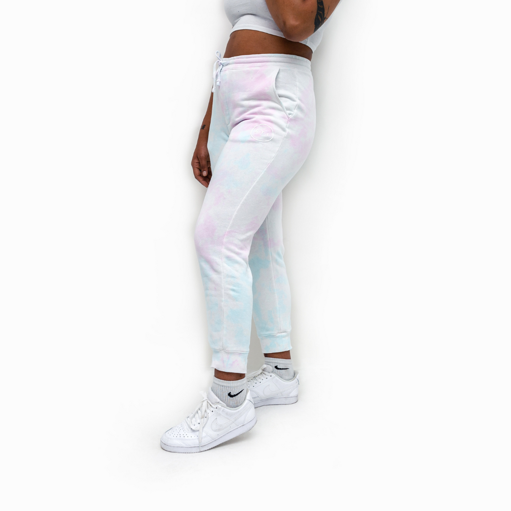 Cloud Tie Dye Fleece Sweatpants