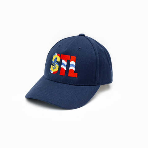 STL Flag Wool Blend Flat Bill
