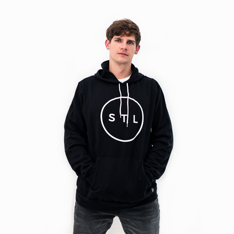 Cinched Crop City Circle Hoodie