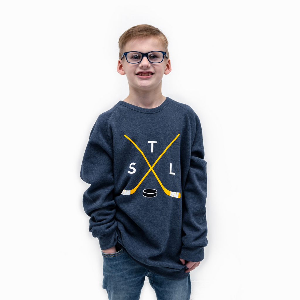Youth Crossed Sticks Crewneck