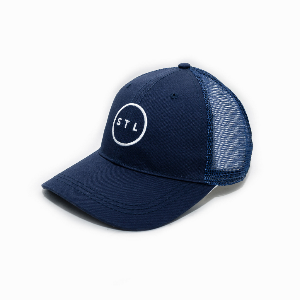 Navy Arch Apparel City Circle Curved Bill Trucker
