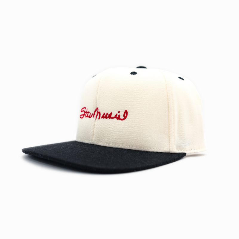Stan Musial Signature Flat Bill Snap Back