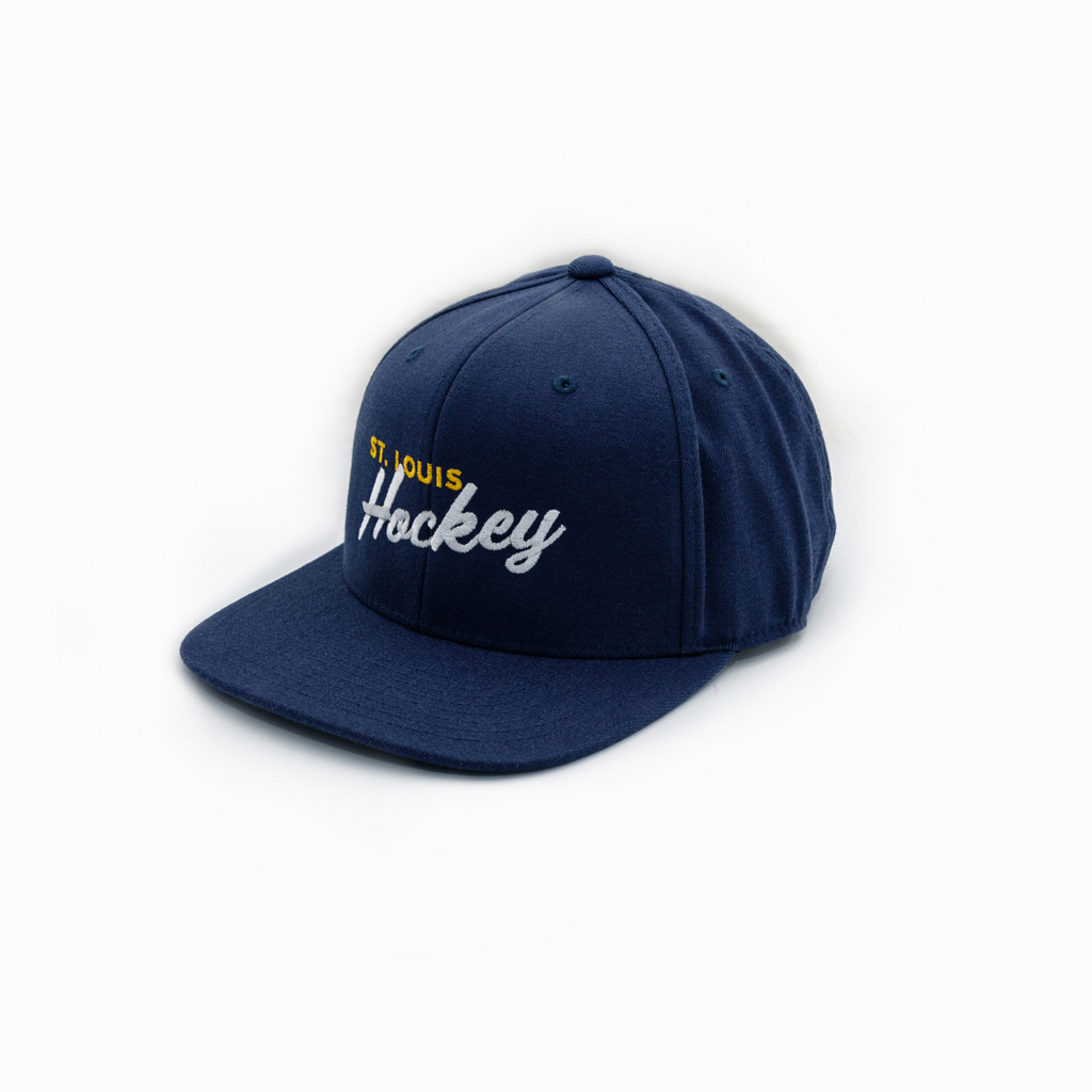 Hockey Script Woolblend Flat Bill Hat