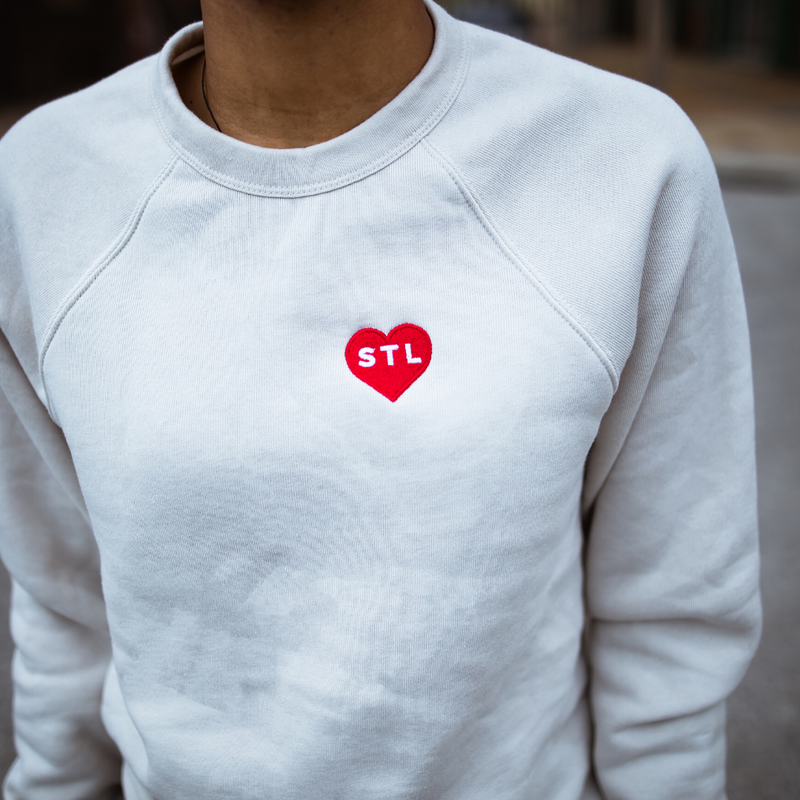 Embroidered Heart STL Crewneck