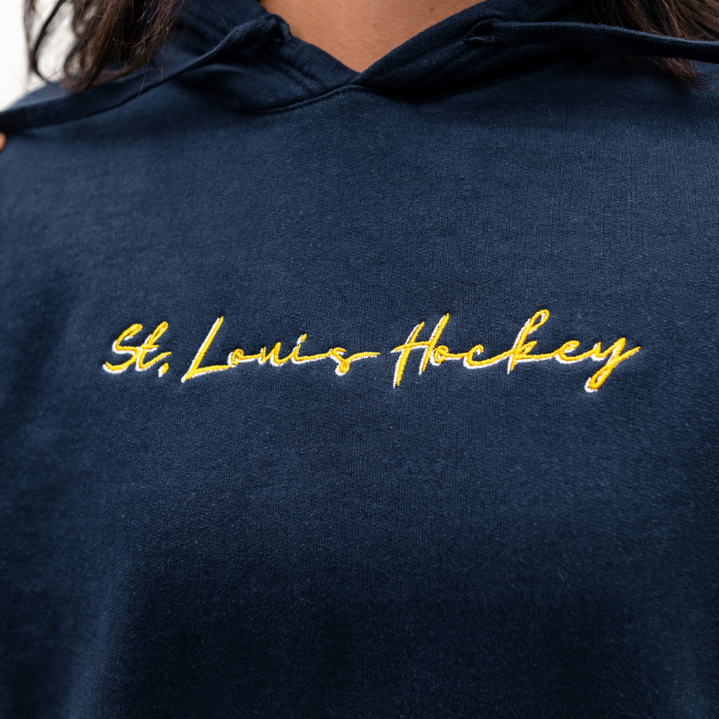 Embroidered Script Hockey Champion® Hoodie