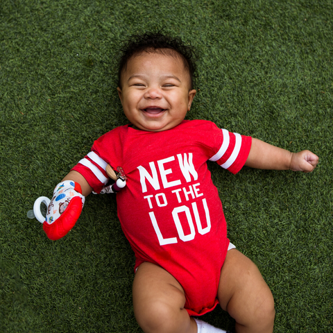 Born & Raised SAINT LOUIS Made Onesie