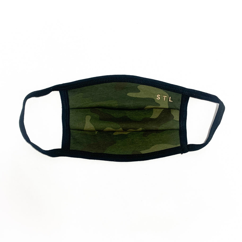 Green Camo 2-Ply Face Mask