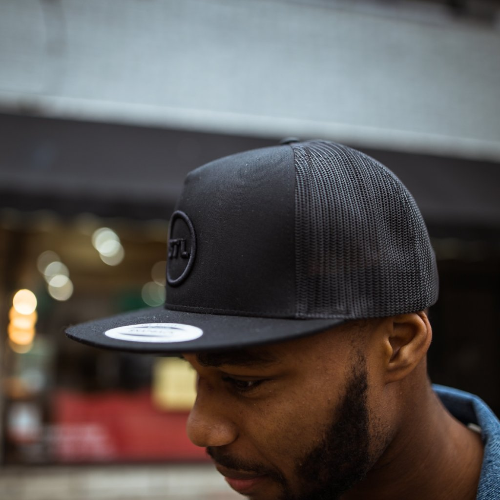 Blackout City Circle Flatbill Trucker