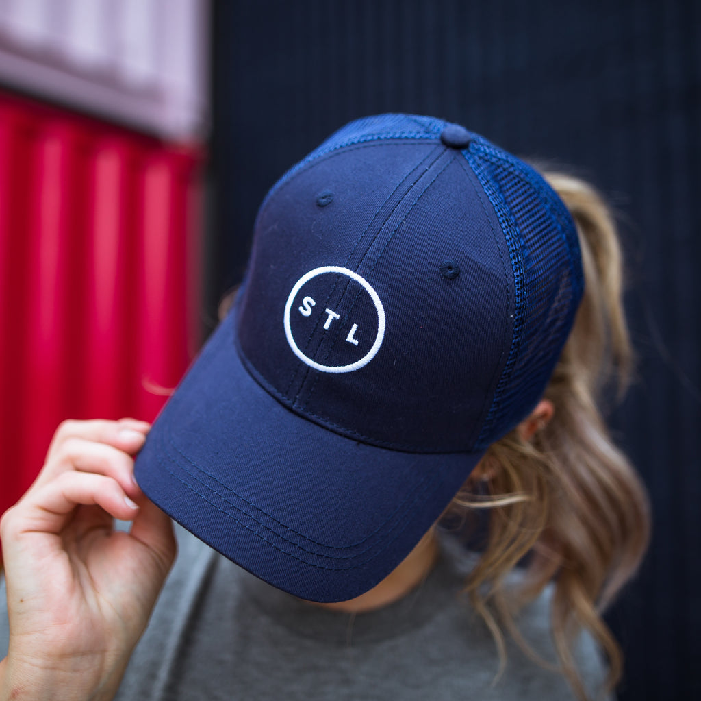 Navy Arch Apparel City Circle Baseball Trucker