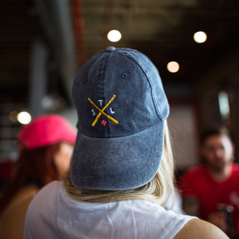 Crossed Bats Dad Hat