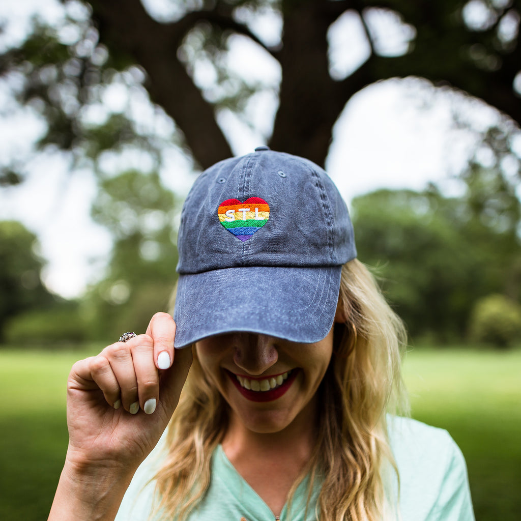 Pride Heart STL Dad Cap