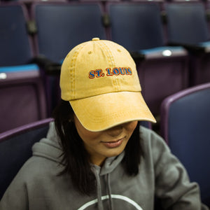 Yellow Washed Throwback St. Louis Dad Cap