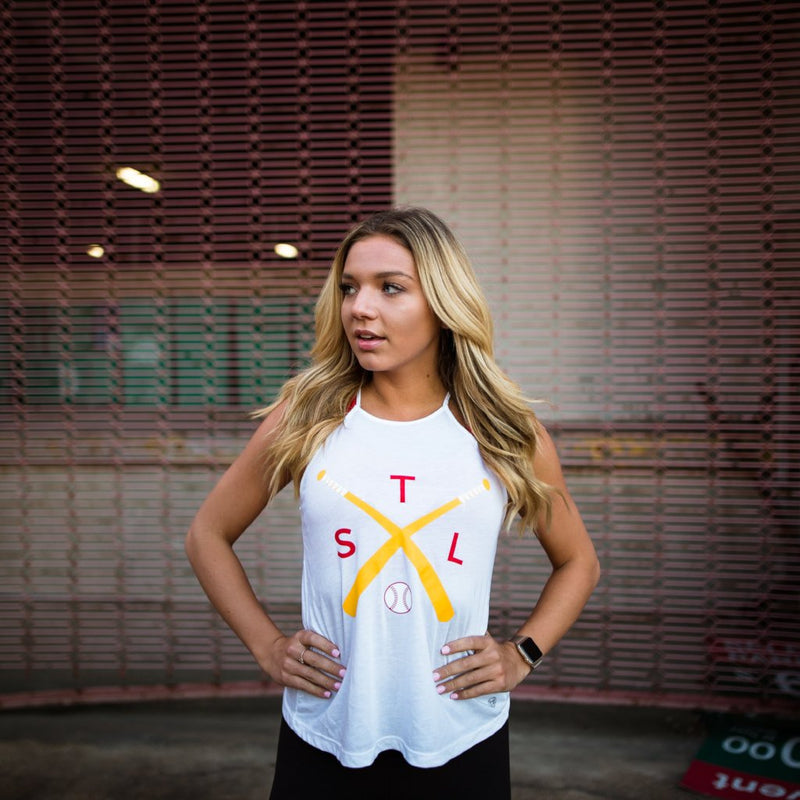 Crossed Bats High Neck Tank