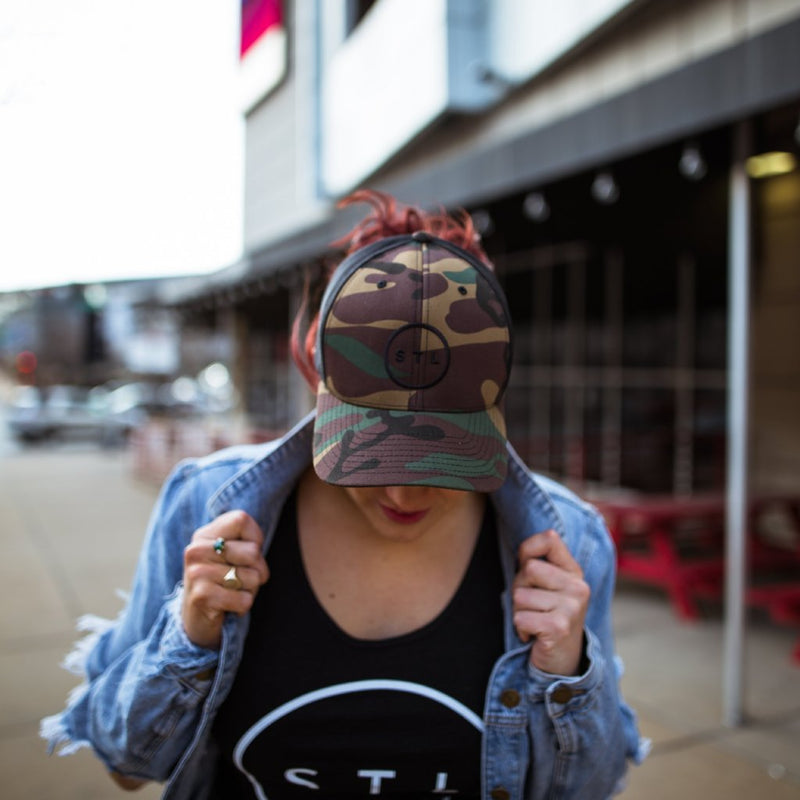 Camo/Black Baseball Trucker
